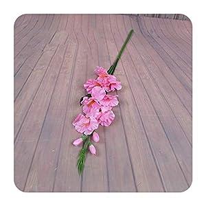 Silk Flower Arrangements 2020 New Realistic 1Pc Artificial Simulation Gladiolus Flower Stem Wedding Bouquet/Posy Table Arrangement Home Decor 8 Colors-pink