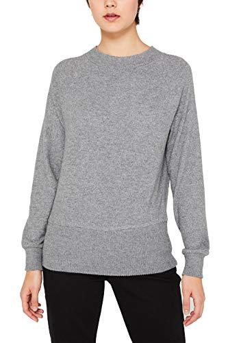 edc by ESPRIT Damen 119CC1J004 Sweatshirt, Grau (Gunmetal 5 019), X-Large (Herstellergröße: XL)