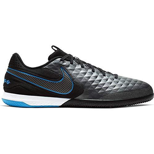 Nike Men's React Legend 8 PRO IC Soccer Shoes (Black/Black-Blue Hero) (10.5 D US)
