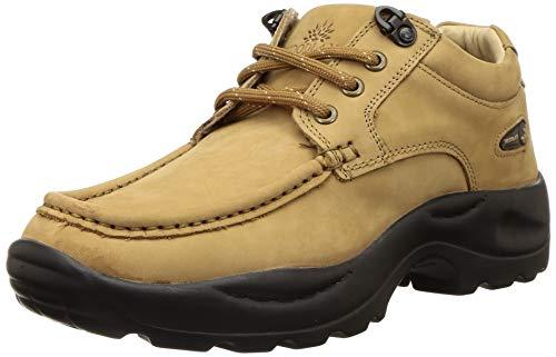 Woodland Men's Gc 2825118_Camel Leather Sneakers-5 UK (39 EU) (6 US)