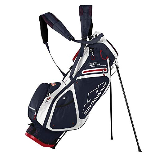 Sun Mountain Golf 2018 3.5 LS Stand Bag NAVY-WHT-RED (Navy/White/Red)