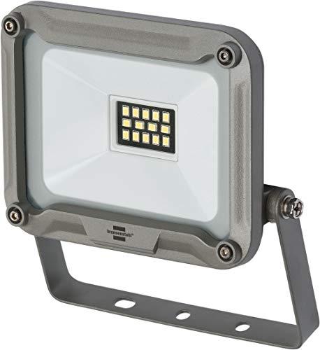 Brennenstuhl Projecteur LED JARO 10W (900 lm, Utilisation en Interieur et en Extérieur, Etanche IP65, support orientable), Argent