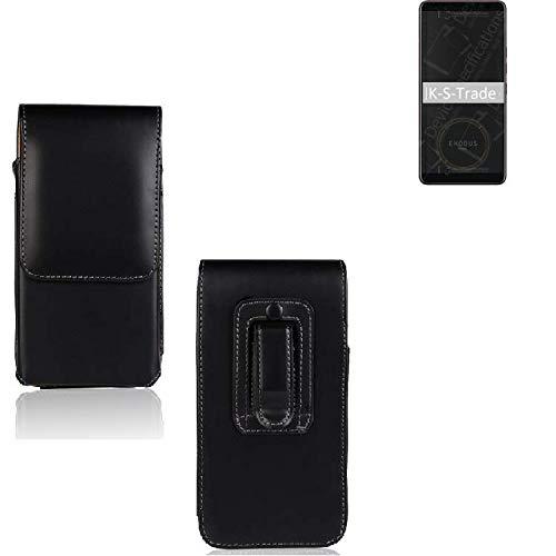 K-S-Trade Für HTC Exodus 1 Holster Gürtel Tasche Gürteltasche Schutzhülle Handy Tasche Schutz Hülle Handytasche Smartphone Hülle Seitentasche Vertikaltasche Etui Belt Bag Schwarz Für HTC Exodus 1