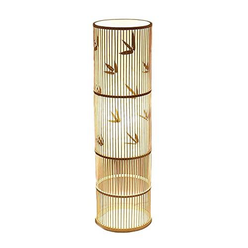 NARUJUBU Hecho a mano de bambú Decoración Lámpara de pie, Moderno Salón Dormitorio de bambú decoración de la lámpara, 100cm, 28cm