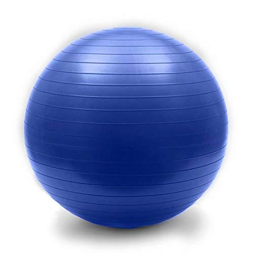 YANGHUI Umweltschutz Aufgeblasen Kleiner Gymnastikball Verdicken Explosionsgeschützt Balance Fitnessbälle Bauchmuskeltraining Nackenmassage Mini Pilates,Blau-92cm