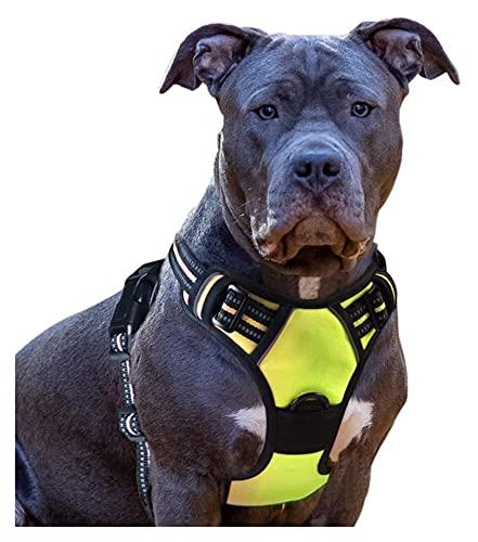 Harnais anti traction pour chien Harnais de chien Aucun tirant de la poignée de harnais for animaux de compagnie Réglable réfléchissant respirant respirant respirant oxford gilet doux for petits gros