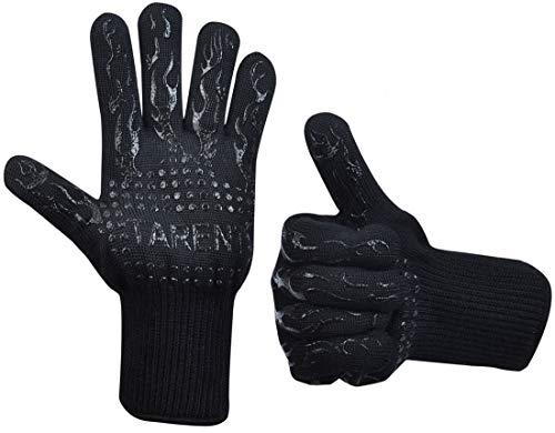 Grillhandschuhe – hitzebeständig bis zu 500°C, 1 Paar, Hochwertige extra lange Ofenhandschuhe, Topfhandschuhe, Backhandschuhe, von Tarent
