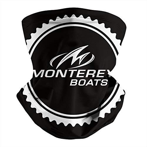 Pupkitten Seamless Face Mask Headband Monterey-Boats-Logo-face-White- Multifunctional Headwear Neck Gaiter Balaclava for Dust Outdoor Sports Raves Festivals