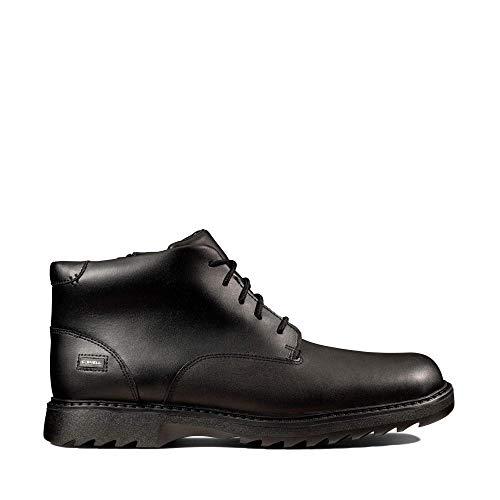 Clarks Jungen Asher Walk Y Klassische Stiefel, Schwarz (Black Leather Black Leather), 39.5 EU