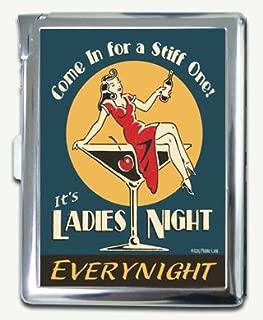 Vintage Retro Tin Sign Ladies Night Cigarette Case Lighter Wallet Card Holder
