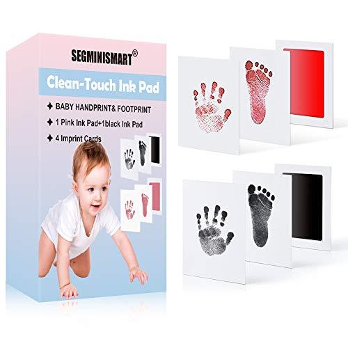 Baby Handabdruck und Fußabdruck Fotoalbum Bilderrahmen Set,Baby Fussabdruck Set,Babyhaut kommt nicht mit Farbe in Berührung,Baby Foto Andenken
