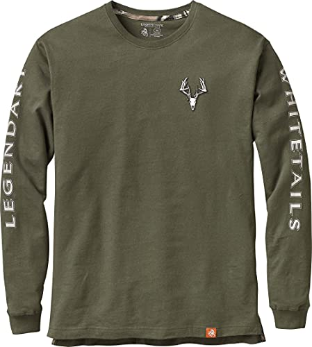 Legendary Whitetails Men's Non-Typical Long Sleeve T-Shirt, Army, Large Tall
