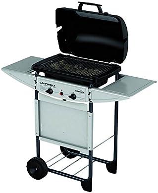 Foto di Campingaz Expert Plus Barbecue Gas con Pietre Laviche, Grill Barbecue Compatto a Gas con 2 bruciatoreiatore, Potenza 7 kW, Cavo in Acciaio Cromato, 2 Ripiani Laterali