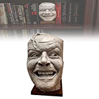 Sculpture Of The Shining Bookend Library Here's Johnny Sculpture Ornament, Surprised Expression Sculpture Resin Desktop Ornament for Book Shelf Decoration
