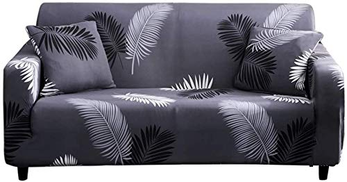 Lamberia Printed Sofa Cover Stretch Couch Cover Sofa Slipcovers for 3 Cushion Couch with Two Free Pillow Cases (Palm, Sofa-4 Seater)