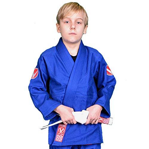 Valor Sento Premium - Traje de Judo para niños, Color Azul, tamaño 140 cm