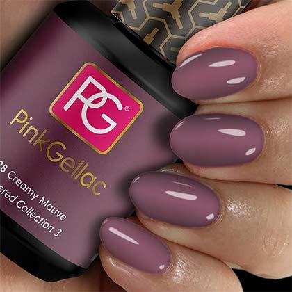 Pink Gellac UV Nagellack 228 Creamy Mauve. Professionelle Gel Nagellack shellac für mindestens 14 Tage perfekt glänzende Nägel