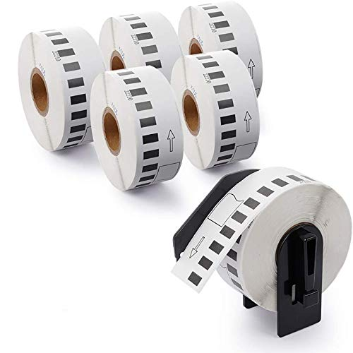 """Airmall Compatible Labels Replacement for Brother DK-2210 Continuous Labels, Replacement Labels-1-1/7"""" x 100' for use in QL-500 700 710W 820 NWB Printer (6 Rolls,100'/ Roll)"""