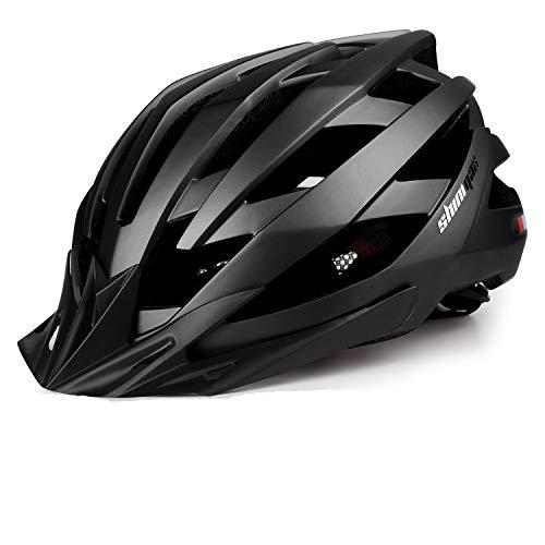 KINGLEAD Casco de bicicleta con luz LED recargable, unisex, protegido, para ciclismo,...