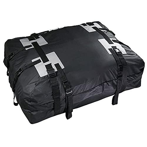 Cofre Coche Techo a prueba de agua Portador del techo de la barra bolsa de viaje de equipaje 15 pies cúbicos para vehículos con rieles del techo Cofre Techo