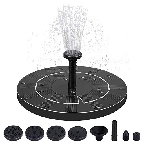 1.4W Solar Fountain Pump, Free Standing Floating Solar Bird Bath Water Pumps for Garden, Patio, Pond, Pool and Outdoor