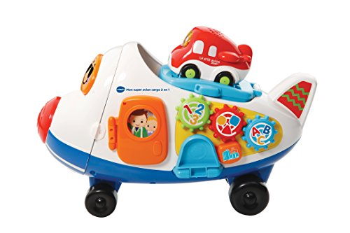VTech–503105–Spielzeug-Frachtflugzeug, Spielereihe: TUT TUT Rennwagen–2-in-1+ Timon, das kleine Flugzeug