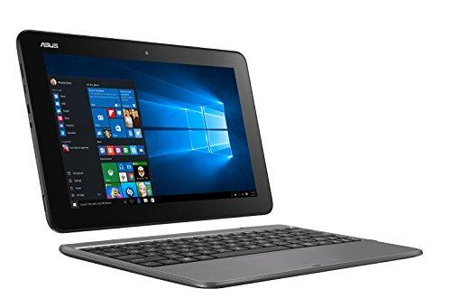 Asus Transformer T101HA-GR029T Notebook Convertibile, Display 10.1  HD, Processore Intel Atom Z8350, RAM 4 GB, 64 GB eMMC, Windows 10, Grigio