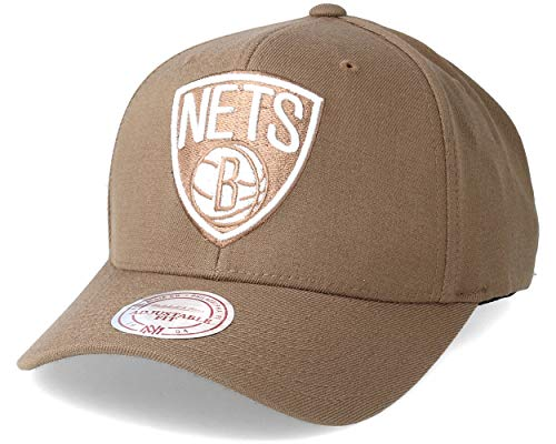 Mitchell & Ness Brooklyn Nets Baseball Cap - Flexfit 110 - Kamel - Einstellbar