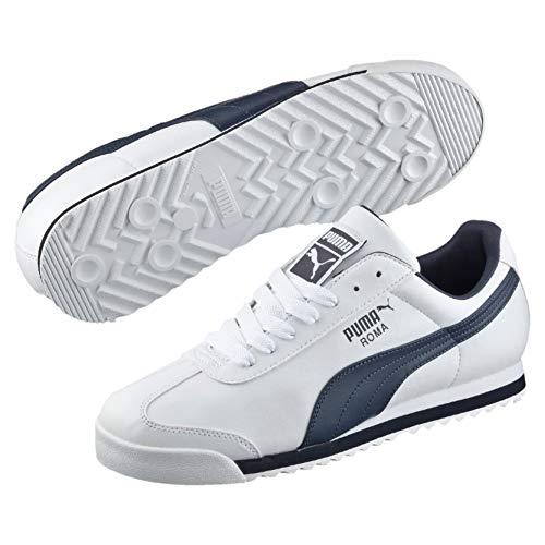 Puma Roma Basic, Zapatillas Deportivas para Hombre, Blanco(White/New Navy), 38 EU