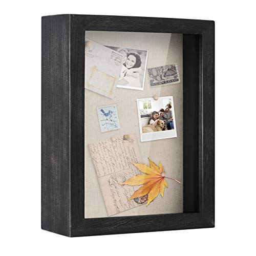 Love-KANKEI Shadow Box Frame 8x10 Shadow Box Display Case with Solid Wood Frame and Removable Glass...