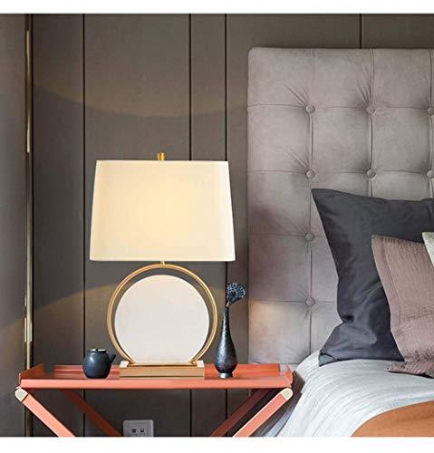 CENPEN Sala de estar de mármol chino ambiente acogedor dormitorio personalidad luz LED modelo habitación decorativo tela Den lámpara D40 * H68 cm alto sabor