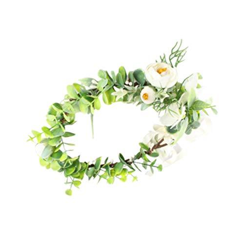 Lurrose Guirnalda Floral Nupcial Corona de Flor de Pelo con Hojas Verdes...