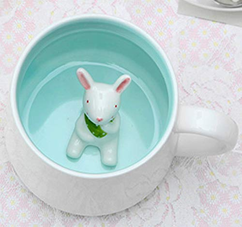 3D-Keramik-Kaffeetasse mit Tiermotiv, 383 ml, spülmaschinen- und mikrowellengeeignet