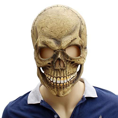 SXZX Mscara De Miedo Novedad Mscara De Halloween Mscara De Calavera De Terror para Fiestas Y Festivales Mscara De Fiesta De Disfraces De Halloween Zombie