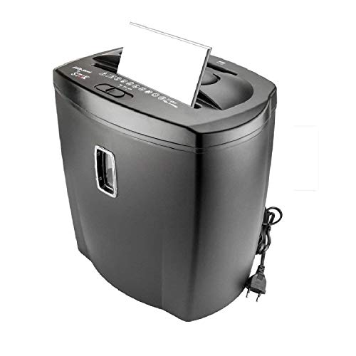 SToK 8 Sheet Cross Cut Paper Shredder 21 Liter Large Waste Bin Capacity with CD/DVD and Credit Card Shredder (ST-30CC) with One Year Offsite Warranty