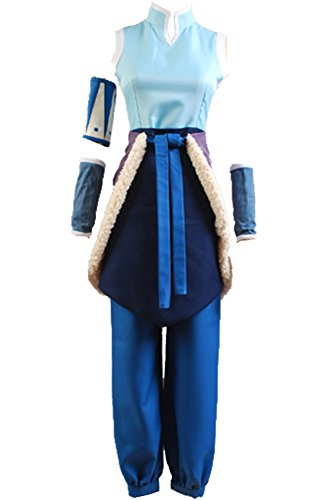 Cosplaysky Adult Uniform for Korra Costume Cosplay The Legend Halloween Outfit X-Large Blue