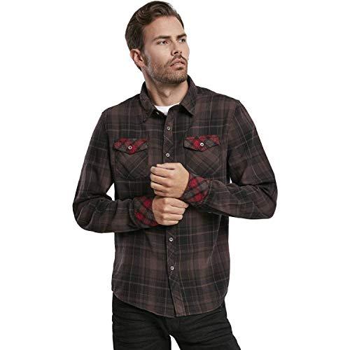Brandit Checkshirt Duncan brown-black Gr. XL Art. 4016-67-XL