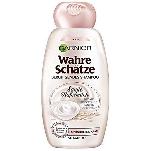 Haarshampoo/Shampoo WAHRE SCHÄTZE - SANFTE HAFERMILCH (Reiscreme + Hafermilch / 300 ml) FÜR EMPFINDLICHES HAAR