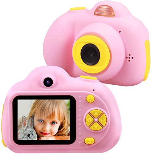 TekHome 2019 Nueva Cámara de Fotos para Niños con 32GB Tarjeta SD y Acollador, 2 Objetivos Selfie 8MP Cámara Digital 1080P HD Video, Juguetes Niña 3-10 Años, Regalo Niña Cumpleaños Infantil, Rosa.