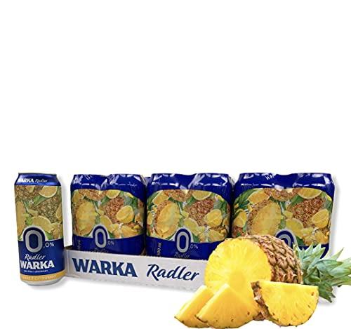 Warka Radler Bier 0,0% Alc. Ananas Citrus, die alkohlfreie Erfrischung aus Polen (12)