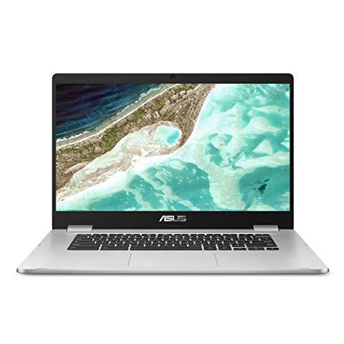 ASUS Chromebook C523 15.6' HD NanoEdge Display with 180 Degree Hinge Intel Dual Core Celeron N3350 Processor, 4GB RAM, 16GB eMMC, Silver Color, C523NA-DH46