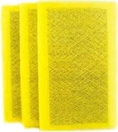 10 Natures Home - Micro Power Guard Air Cleaner Replacement Compatible Filter Pads, (10) Pack with Fill Carbon Center Made in USA Yellow (12x30 (Actual Filter Size 10.5x27.5))