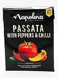 Napolina Passata con Pimientos y Guindilla 390g, Ideal como base de ingredientes para cocinar salsas, Pack de 2
