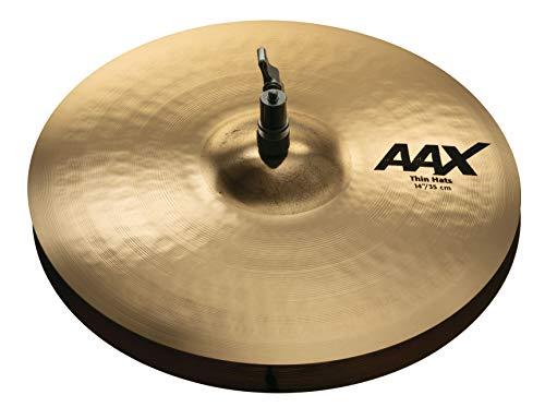 "Price comparison product image Sabian Hi-Hat Cymbals,  Brilliant Finish Pair,  14"" AAX Thin Hihats (21401XCB)"