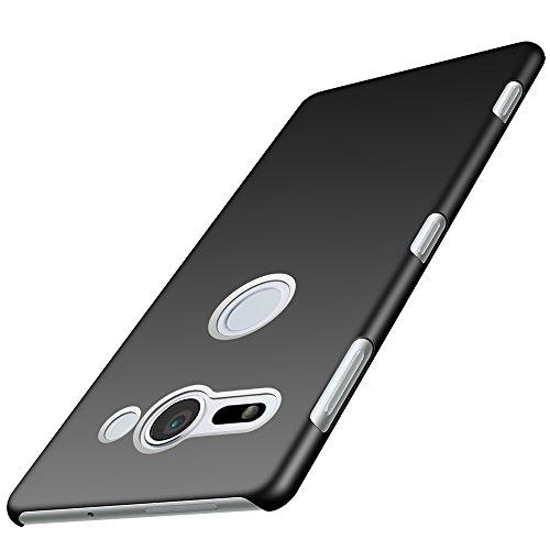 Anccer Funda Sony Xperia XZ2 Compact [Serie Colorida] [Ultra-Delgado] [Ligera] Anti-rasguños Estuche para Case Sony Xperia XZ2 Compact (Negro Liso)