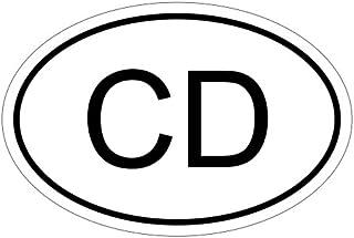 Kiwistar Kongo CD 15 x 10 cm Autoaufkleber Sticker Aufkleber KFZ Flagge
