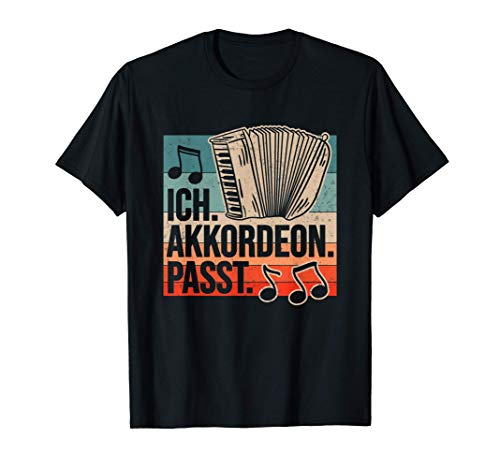 Akkordeon Ziehharmonika Akkordeonspieler Harmonika Musik Fun T-Shirt