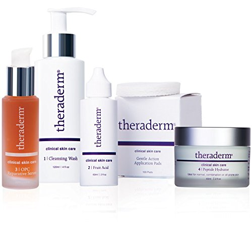 Theraderm Skin Renewal System with Peptide Hydrator -Daily skin maintenance regimen - 3-month...