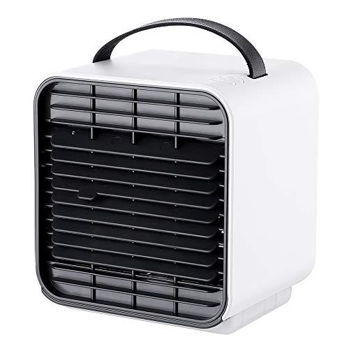 Scra AC Ventilador De Aire Acondicionado De Ión Negativo PM2.5 Ventilador De Mesa Limpio Conveniente Silencioso Ventilación Luz De Aire Acondicionado Ventilador Nocturno (Color : White)