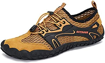 AFT AFFINEST Mens Womens Water Shoes Outdoor Hiking Sandals Aqua Quick Dry Barefoot Beach Sneakers Swim Boating Fishing Yoga Gym(Brown-A,44)